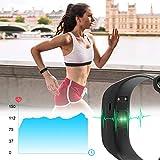 WiMiUS Fitness Armband mit Pulsmesser, Wasserdicht IP68 Fitness Tracker, Aktivitätstracker, Schlaf Monitor,Schrittzähler, GPS, Kalorienzähler Uhr Smart Watch für Damen Herren (Schwarz) - 3