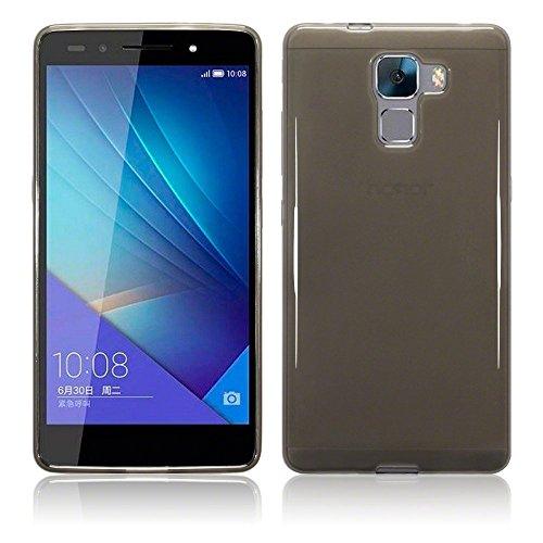 TBOC® Schwarz Gel TPU Hülle für Huawei Honor 7 Ultradünn Flexibel Silikonhülle