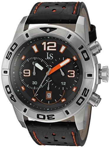 Joshua & Sons JS60OR - Reloj de Pulsera Hombre, Color Negro