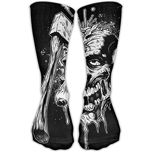 cb0ed792b1 Juziwen Man's Cool Axe Skull Winter Crew Length Socks Comfy Sock For Men  (Long 50cm