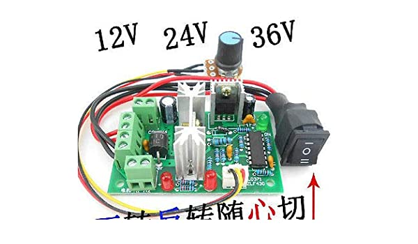 Reverse Switch DC 10-36V Motor Speed Controller Reversible PWM Control Forward