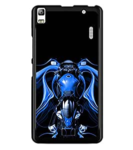 PRINTSWAG BLUE BIKE Designer Back Cover Case for LENNOVO K3 NOTE
