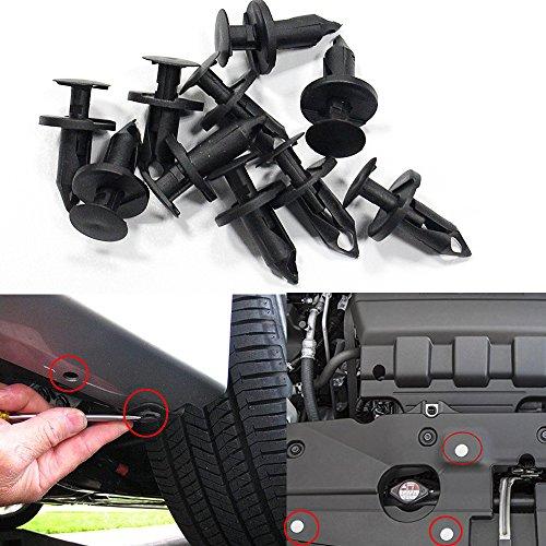 Muchkey Karosserieverkleidung Clips Verschluss Entferner Stoßfänger Auto Clips Clip Set Push Pin Nieten Set 8 * 76mm 50 Stücke (Quad Suzuki < 50)
