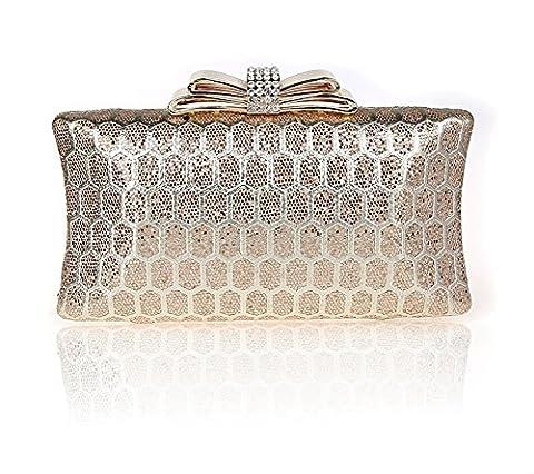 faux diamant/arc/Moraillon sac à main/Mode sac de soirée/banquet de haute qualité/Bride d
