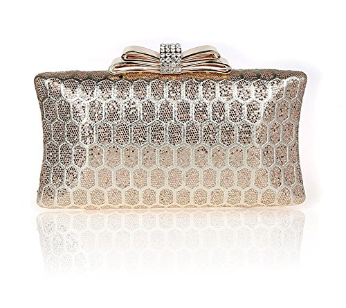 strass/arco/borsa Hasp/borsa da sera di moda/Di alta qualità per banchetti/Sposa frizione/pacchetto vestito-B B