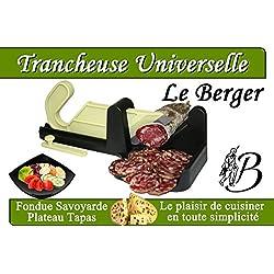 Guillotine à Saucisson Bicolore Pomme Spéciale LAVE VAISELLE Inventée en suisse et rééditée par LE BERGER