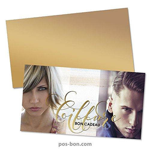 50 Bons cadeaux + 50 enveloppes pour coiffeurs K1203F