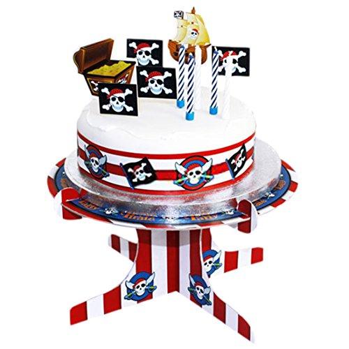erdbeer-party - Party Dekoration Kuchen Deko Set - Piraten Party - 19 Stück, (Masken Papier Piraten)