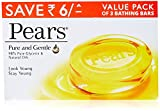 #5: Pears Pure & Gentle Soap Bar, 3 x 125gm