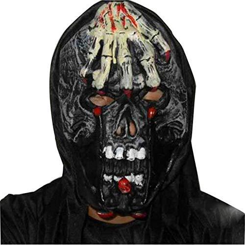 e, Terrorist Gesichtsmaske Halloween Party Latex Lustige Eisen Nagel Maske (A) ()