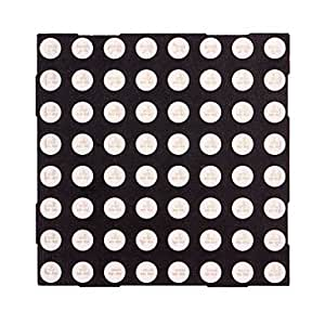 acheter 8x8 à matrice de points d'affichage à LED de 5 mm LED rouge Common Cathode 60x60mm - Noir