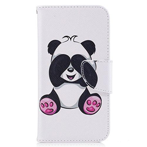 Samsung Galaxy J3 (2016) (5.0 pouce) Coque , PU Cuir Étui Protection Wallet Housse la Haute Qualité Pochette Anti-rayures Couverture Bumper Magnétique Antichoc Case Anfire Cover pour Samsung Galaxy J3 Panda