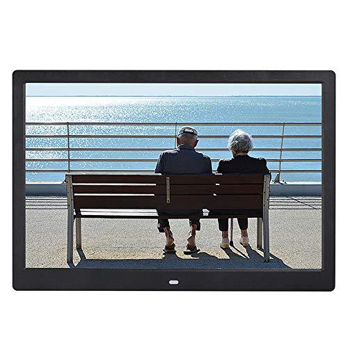 TONGTONG 14 Zoll Digital Photo Frame, 1280x800 HD Picture Video Frame Music, E-Book, Kalender, Alarmuhr, unterstützt Multiple File Formate und Externe USB-SD-Speicher,Black - Photo 14 Digital Frame Zoll