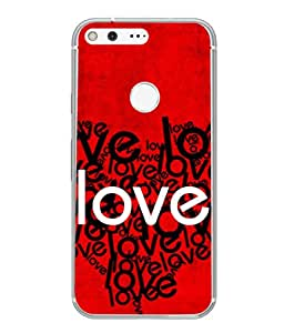 Snapdilla Designer Back Case Cover for Google Pixel XL (Wallpaper Notes Graphic Creative Abstract Couple)