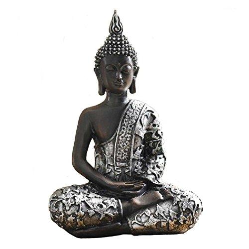 SIDCO ® Buddha Dekofigur Statue indischer Skulptur Asia Buddhismus Asia Feng Shui