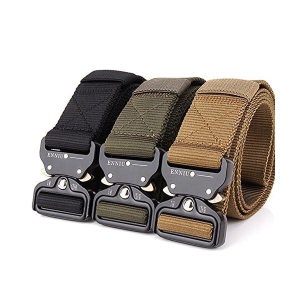 FEIKCOR Cinturón Táctico Cinturón Resistente para Hombres Cinturón Militar DE 1,5 '' Cinturones de Fijación Rápida… 14