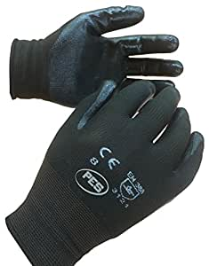 PWS Paire de gants de travail nitrile–taille 10/XL x12