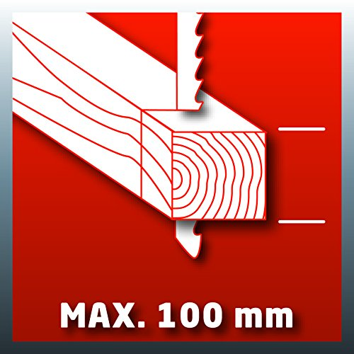 Einhell Stichsäge TE-JS 100 (750 W, max. 100 mm, 45° Schrägschnitt, Hubzahlregelung, 4-Stufen Pendelhub, Absaugadapter, Parallelanschlag, LED-Licht, Koffer) - 10
