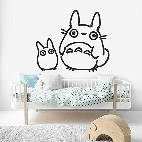 Totoro Kinderzimmer Aufkleber Baby Raumdekoration Cartoon Tier Vinyl Wandaufkleber Kinderzimmer Dekor Wandbild Poster Schlafzimmer Aufkleber 42x69 cm -