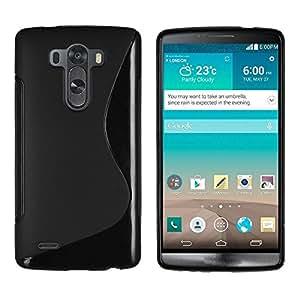 Smart Choice Anti-skid Soft TPU Back Case Cover for LG G3 (Black)