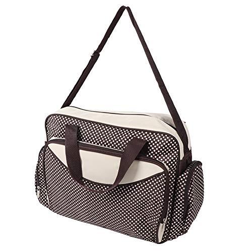 Große Satchel Tote (Windel Tote Bag Mummy Satchel große Kapazität Tasche Pflege Baby Crossbody Dot Bag mütterlichen Multifunktions Travel Wickeltasche(Coffee))