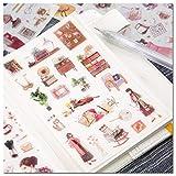 KUNER Briefpapier Aufkleber selbstklebend für Scrapbooking Tagebuch Planer Handy Album Notebook Bullet Journal Party Tasche Event Deko DIY Art Craft Kalender Sticker (Living)