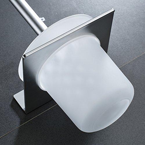 Wangel accesorios de ba o aluminio y vidrio acabado ebay for Amazon accesorios para banos