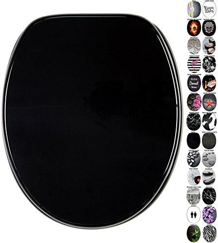 Sedile wc, grande scelta di sedili wc neri da legno robusto e di alta qualità (nero)
