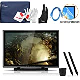 Ugee UG-1910B 19 Inch Graphics Pen Display Tablet with 2 Original Pens, Monitor Cover, Screen Protector, Two-Finger Glove and 2 USB Cable for Drawing
