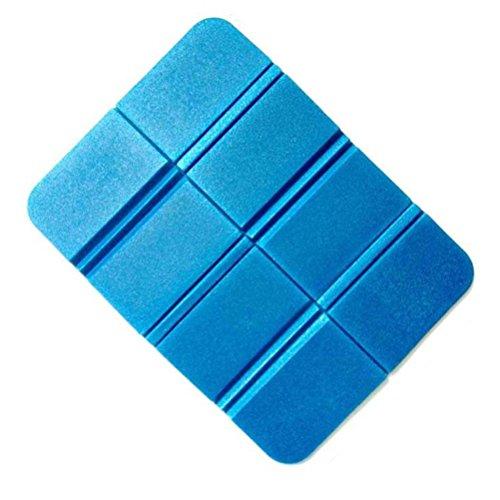 Vorcool anti-humidité pliable XPE Coussinets en mousse étanche assis Tapis Coussin de siège pour le camping Park pique-nique (Bleu)