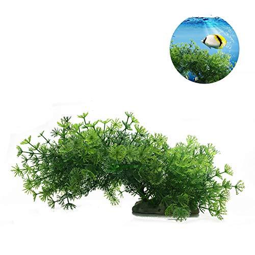 joizo 1pc künstliche Anlage Aquarium Aquascaping Dekorative Kunststoff Pflanze Aquarium Dekoration Realistische Koralle Wasser Gras Wasser Kreatur Fisch Landschaft - hellgrün - Pflanzen Aquarium Realistische