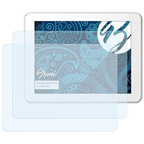 Bruni Schutzfolie kompatibel mit Odys Iron Folie, glasklare Bildschirmschutzfolie (2X)