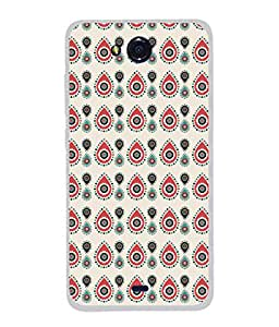 PrintVisa Designer Back Case Cover for Micromax Canvas Play Q355 (Tradition look Rounded mini dots)