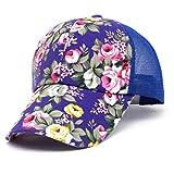 unsex Baseball Cap Ronamick Blumen Baumwolle Baseball Cap Jungen Basecap Mädchen Snapback Hip Hop Flachen Hut Kappe,baseballmütze,Mütze (Blau)