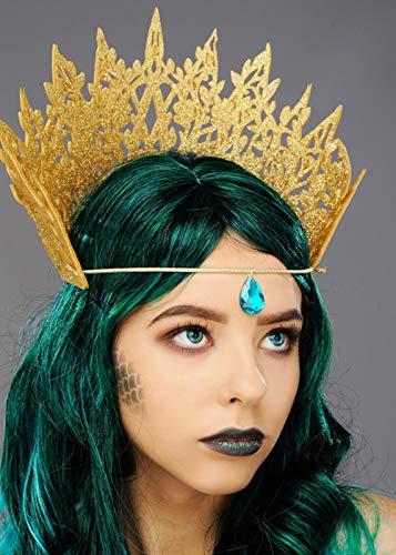 Magic Box Int. Womens Gold Glitter Mermaid Crown mit - Mermaid Magic Kostüm