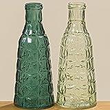 Vase Flaschenvase orientalisch petrol 26cm