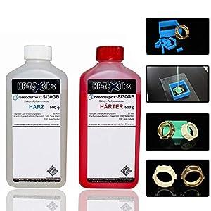 Abform-Silikon Kautschuk zum Gießen 1kg | Für einen detailgetreuen Abdruck im Formenbau, Modellbau, Bastelarbeiten | Hautfreundlich Flüssigsilikon Zwei-Komponenten Dubliersilikon Abformmasse | SI30GB