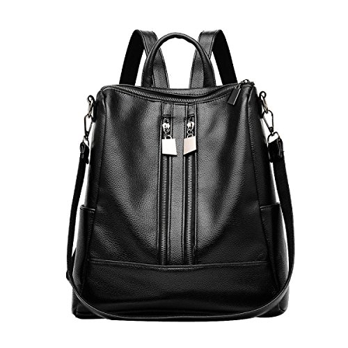 Le Donne Della Moda Laptop Zipper Zaino PU Tracolla In Pelle Borsa Zaino Multicolore Black