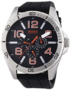 Boss Orange Herren-Armbanduhr XL Big Times Multieye Analog Quarz Silikon 1512945