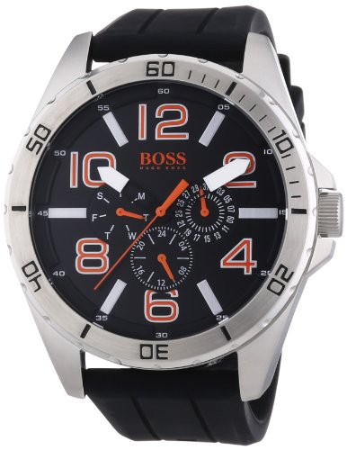 Boss Orange Herren-Armbanduhr XL Big Times Multieye Analog Quarz Silikon 1512945
