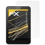 atFolix Panzerfolie kompatibel mit HP Pro Tablet 408 G1 Schutzfolie, entspiegelnde & stoßdämpfende FX Folie (2X)