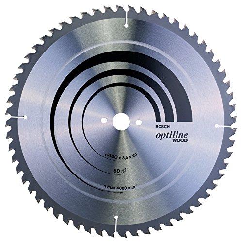 Bosch Professional Zubehör 2608640675 Kreissägeblatt Optiline Wood 400 x 30 x 3,5 mm, 60