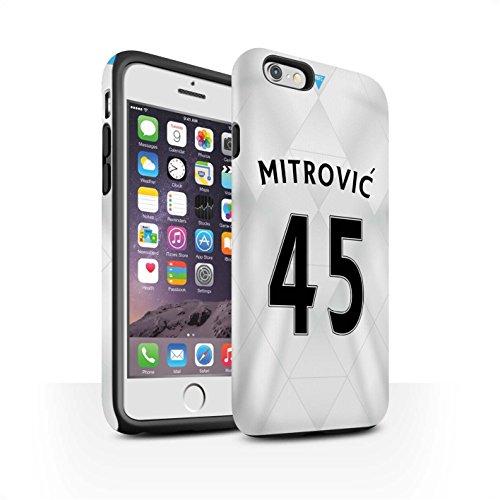 Offiziell Newcastle United FC Hülle / Matte Harten Stoßfest Case für Apple iPhone 6S / Pack 29pcs Muster / NUFC Trikot Away 15/16 Kollektion Mitrovic