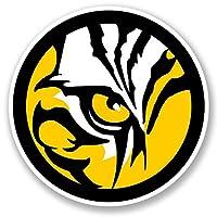 2 x Tiger Lion WINDOW CLING STICKER Car Van Campervan Glass #5476