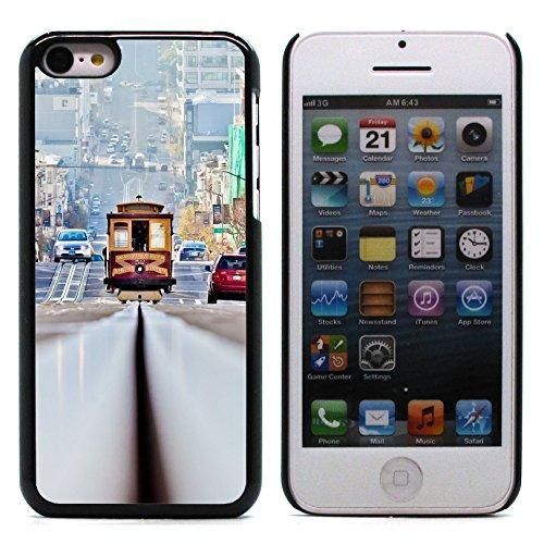 Graphic4You San Francisco Golden Bridge Postkarte Ansichtskarte Design Harte Hülle Case Tasche Schutzhülle für Apple iPhone 5C Design #4
