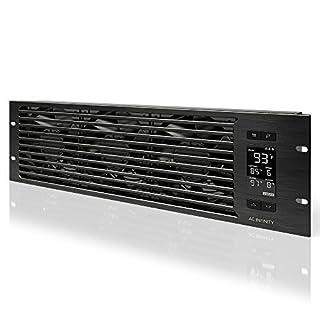 AC Infinity CLOUDPLATE T9-N, Rack Mount Fan Panel 3U, Intake Airflow, for cooling AV, Home Theater, Network 19