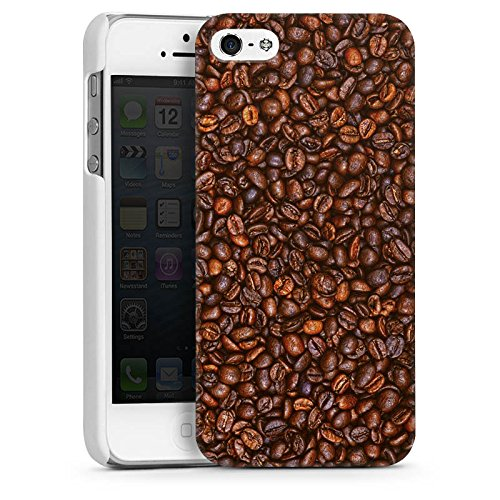 Apple iPhone 4 Housse Étui Silicone Coque Protection Café Haricots Café CasDur blanc
