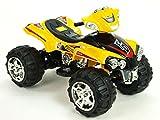 Kinderauto Kinderelektroauto Kinderelektrofahrzeug Kinder elektroauto 12V Elektroquad Quad gelb FD Sport