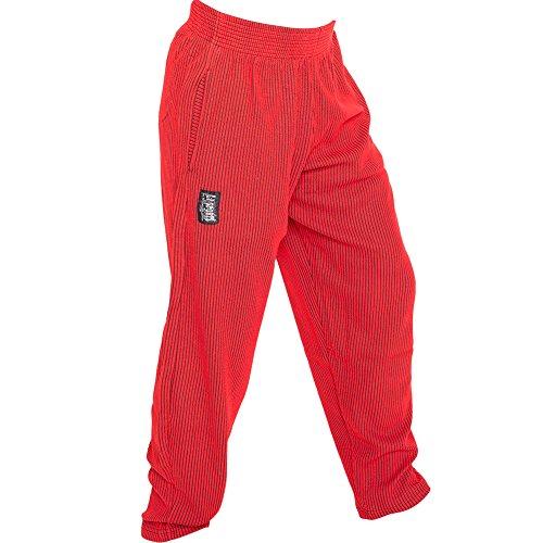 C.P.Sports Herren Traininghose in ROT S10 Body Pant Bodybuilding Hose Fitness Sweatpants Fitnesshose in ROT, Jogginghose L