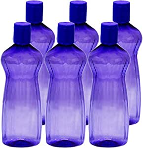 Princeware Aster Pet Fridge Bottle, 500ml, Set of 6, Violet